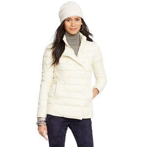 Quilted Down Mock Neck DB Puffer Jacket XL